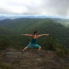 Yoga break on top of the Black Balsam mountains. This was in the middle of a 12 mile hike, up in the Blue Ridge Mountains.