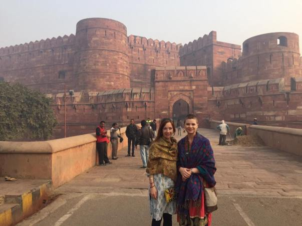 Lauren and I at the Red Fort, Agra India 2017
