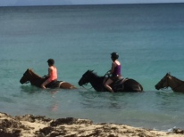 Riding horses with my best friends daughter in St. Marteen 2015